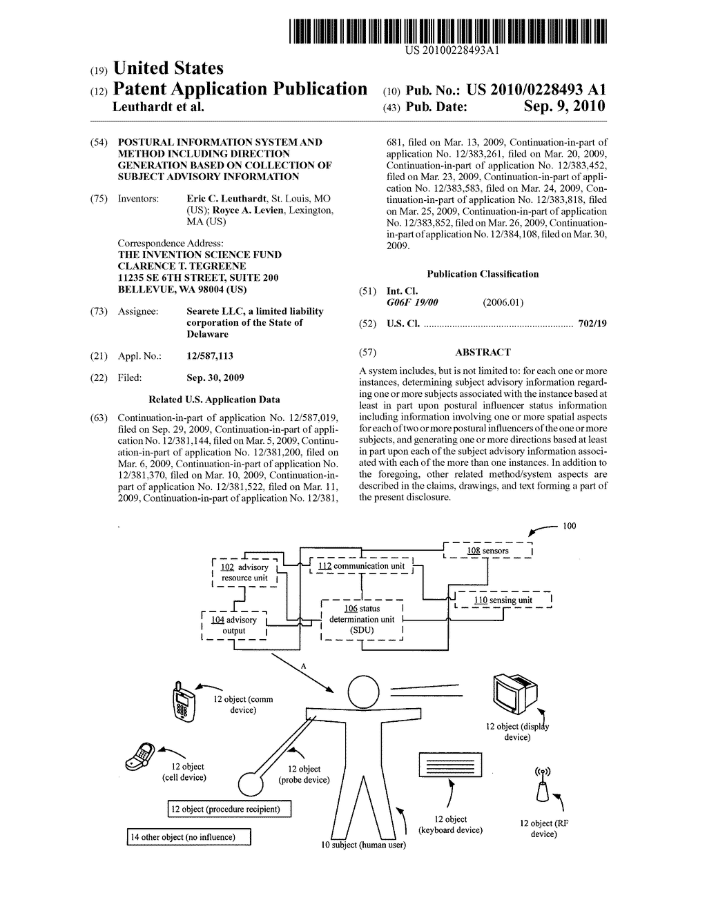 Postural information system and method including direction generation based on collection of subject advisory information - diagram, schematic, and image 01