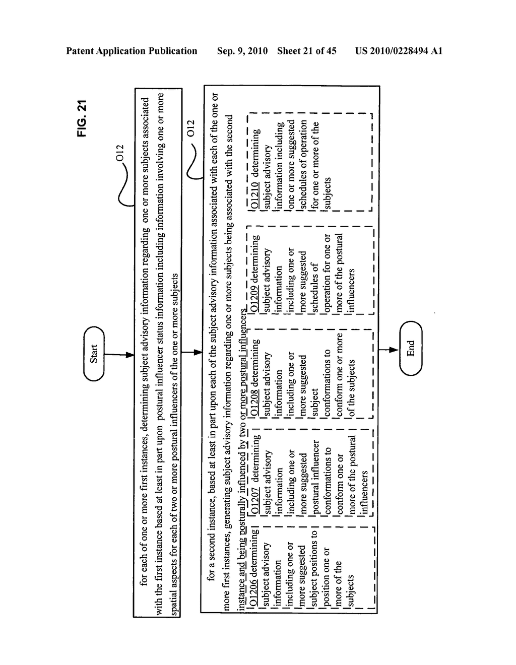 Postural information system and method including determining subject advisory information based on prior determined subject advisory information - diagram, schematic, and image 22