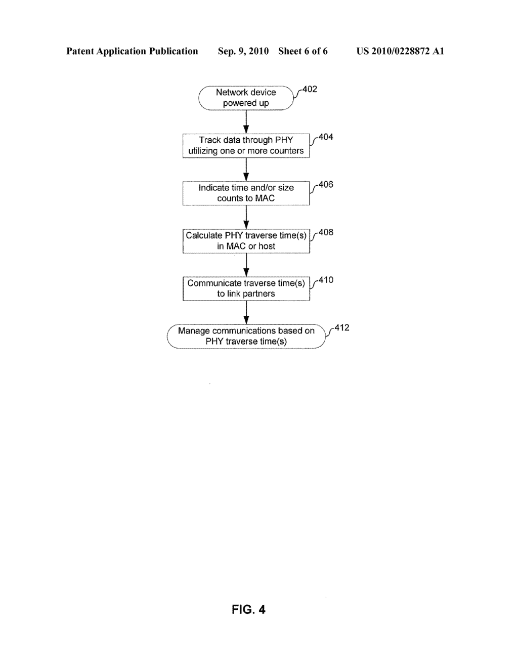 METHOD AND SYSTEM FOR DETERMINING PHYSICAL LAYER TRAVERSAL TIME - diagram, schematic, and image 07