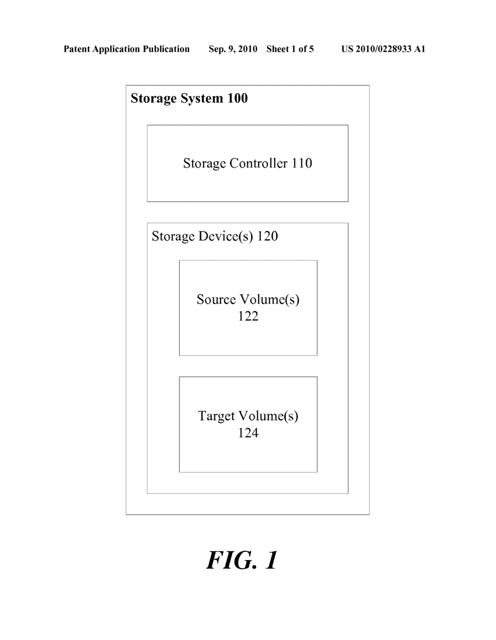 AUTOMATIC SELECTION OF STORAGE VOLUMES IN A DATA STORAGE SYSTEM - diagram, schematic, and image 02