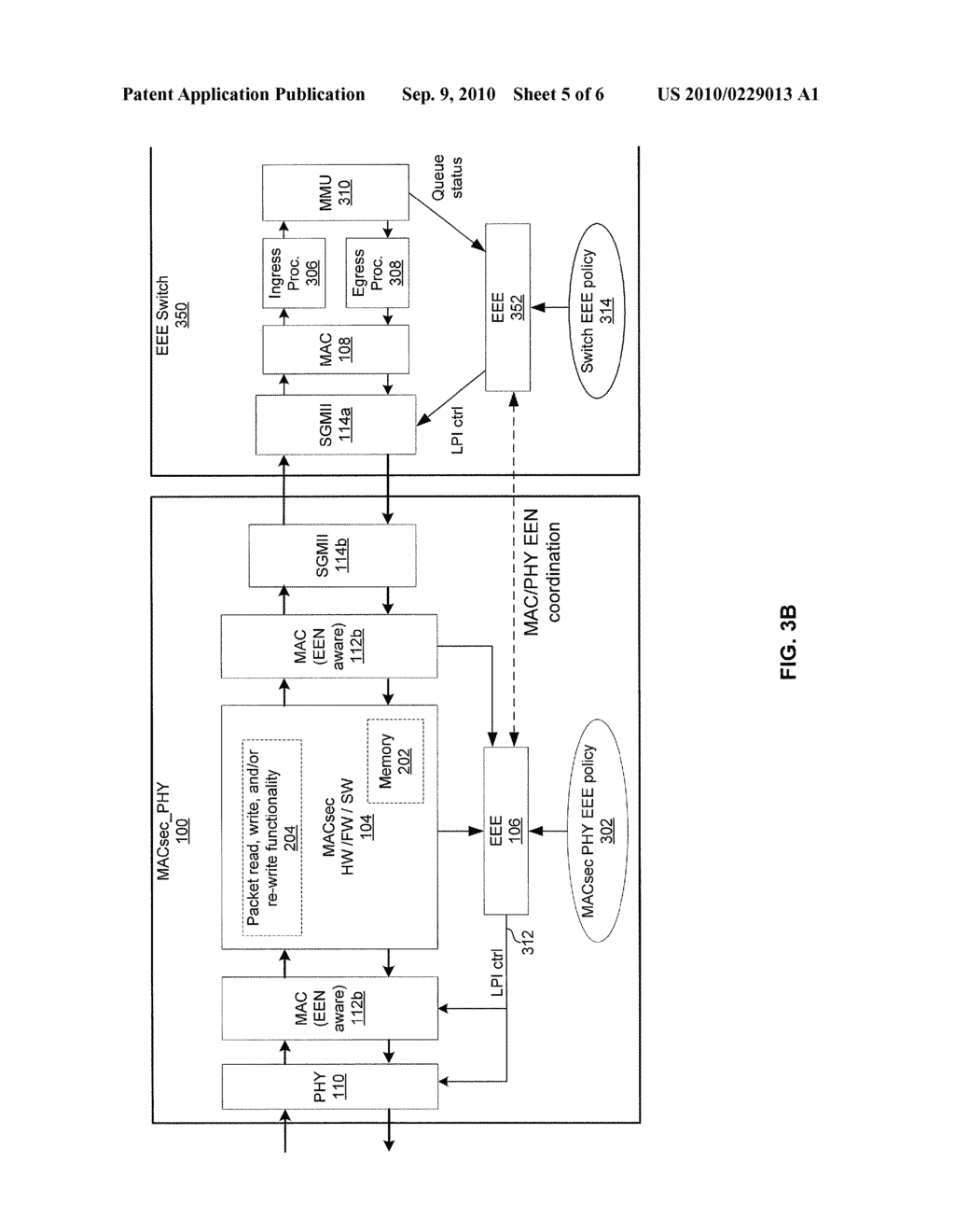 METHOD AND SYSTEM FOR IMPLEMENTING ENERGY EFFICIENT ETHERNET TECHNIQUES IN A MACSEC ENABLED PHY - diagram, schematic, and image 06