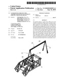 GANTRY DEVICE FOR USE IN THE ASSEMBLY OR MAINTENANCE OF HEAVY PARTS OF A TRAVELLING DEVICE diagram and image