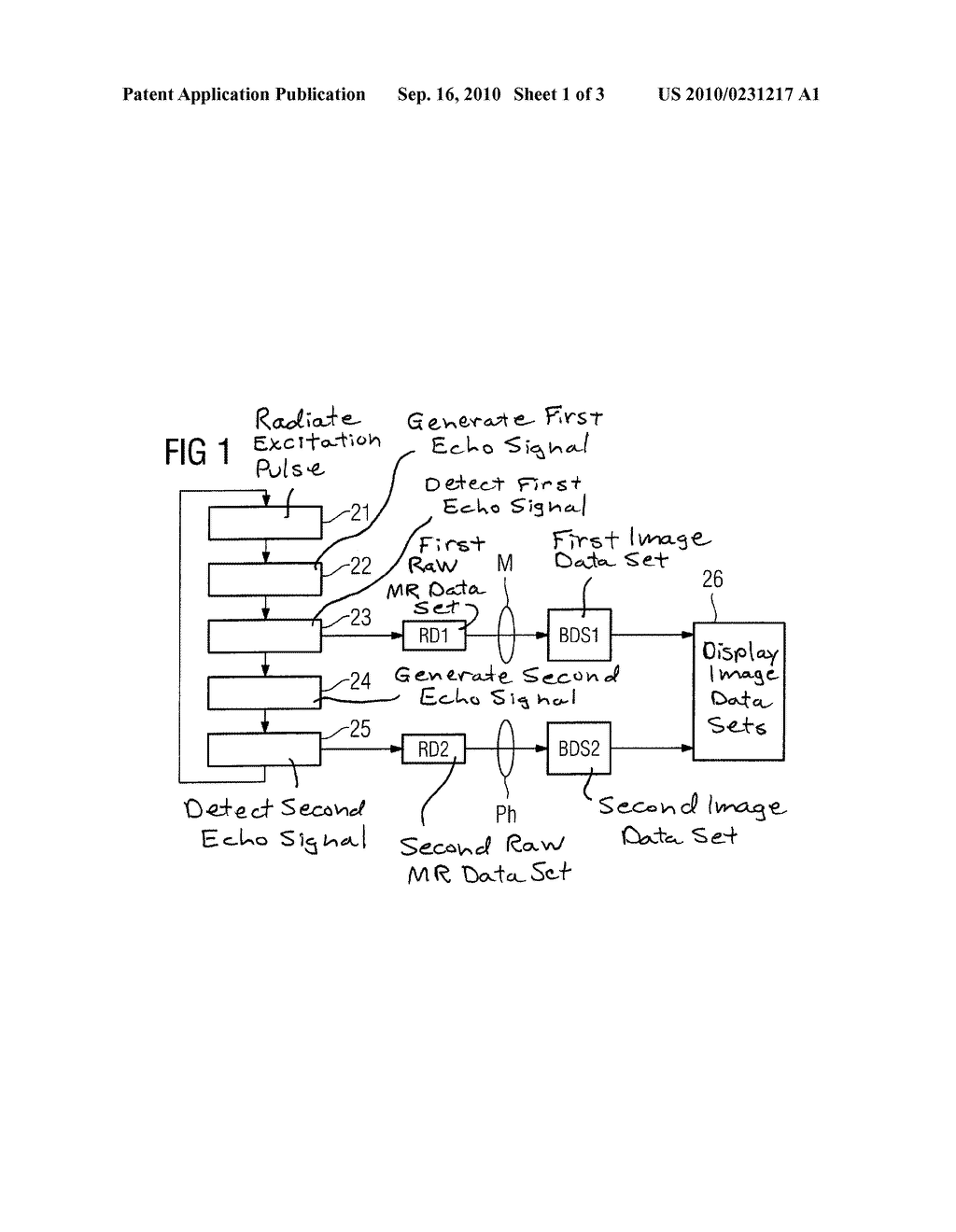 MAGNETIC RESONANCE METHOD AND APPARATUS TO ACQUIRE MULTIPLE IMAGE DATA SETS FROM A SUBJECT - diagram, schematic, and image 02