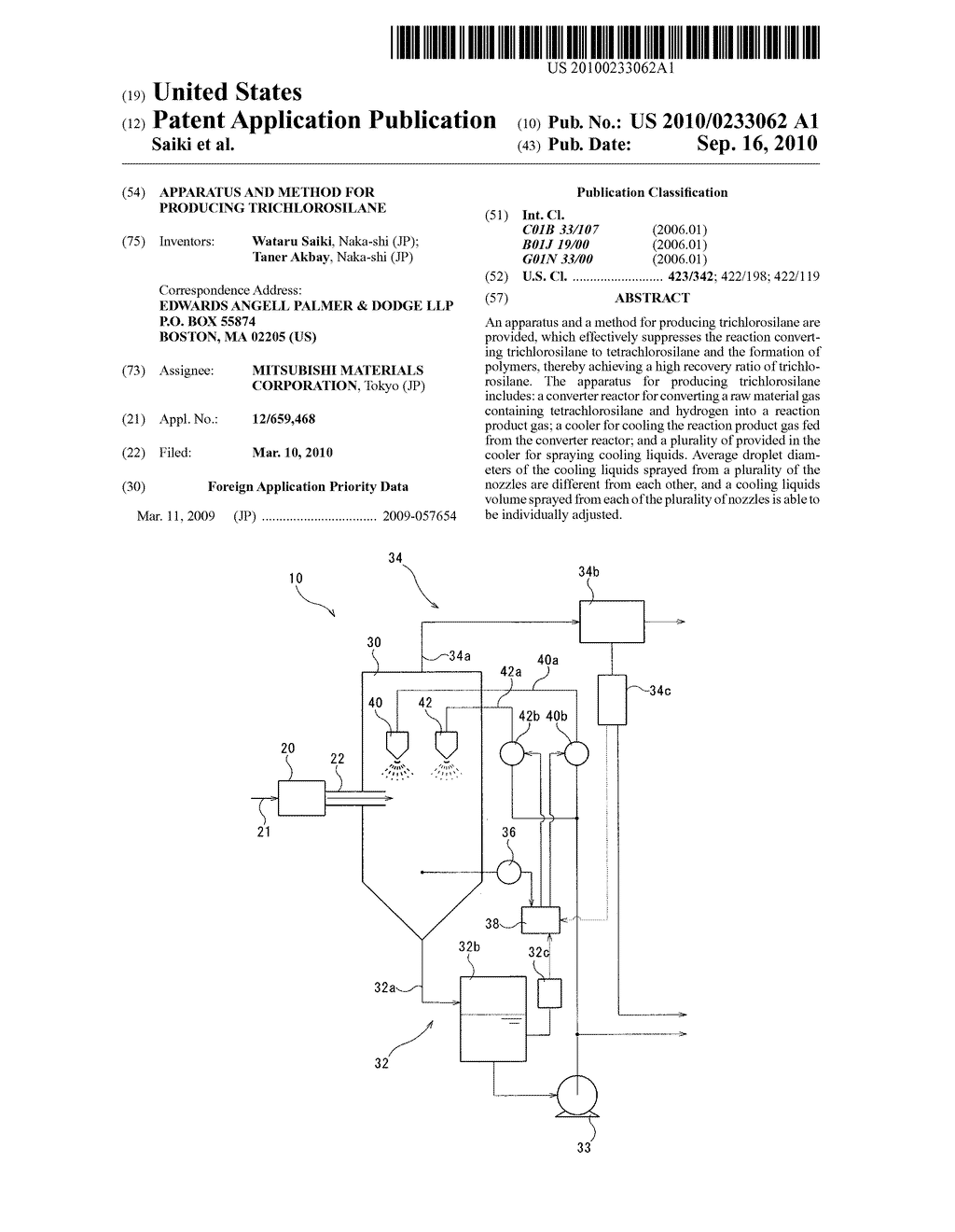 Apparatus and method for producing trichlorosilane - diagram, schematic, and image 01