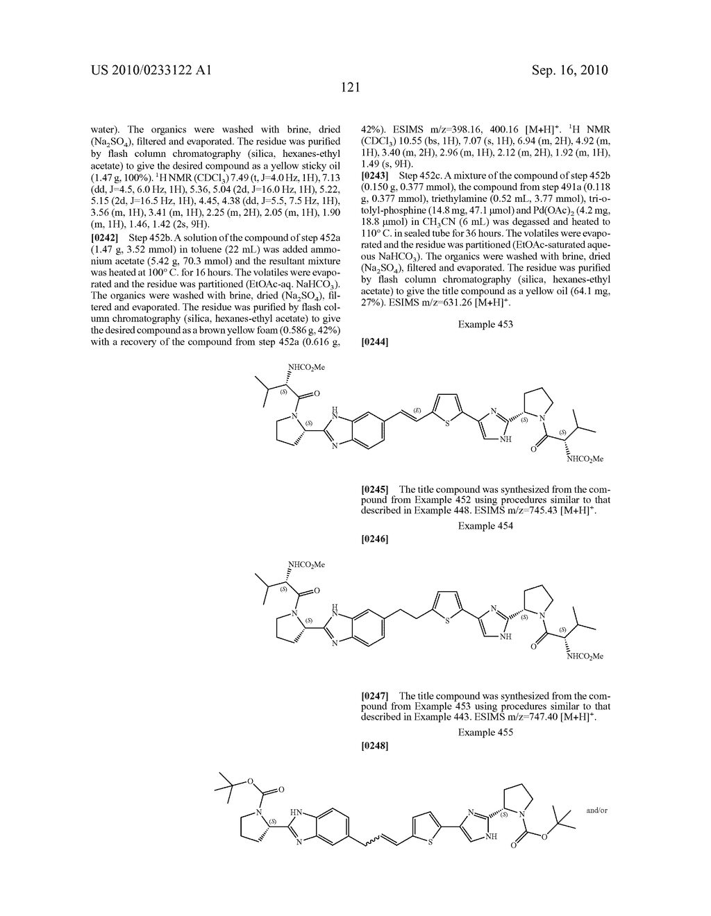 NOVEL BENZIMIDAZOLE DERIVATIVES - diagram, schematic, and image 122