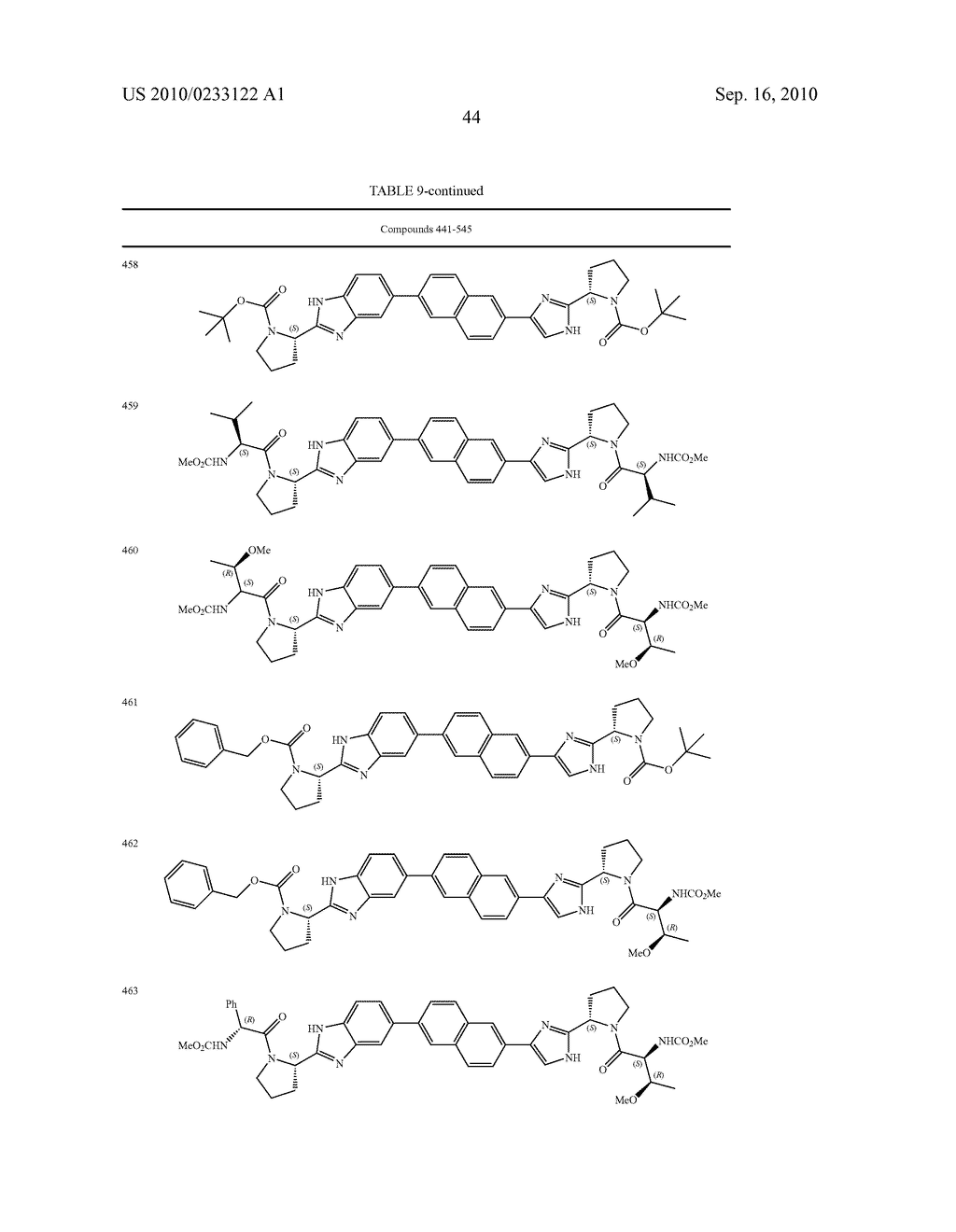 NOVEL BENZIMIDAZOLE DERIVATIVES - diagram, schematic, and image 45