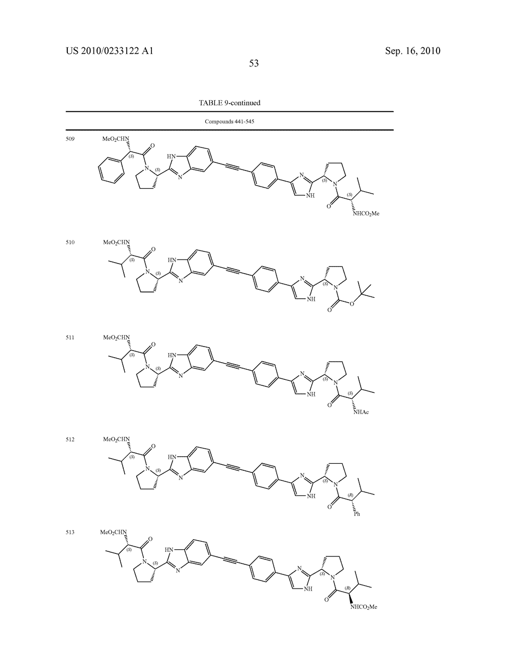 NOVEL BENZIMIDAZOLE DERIVATIVES - diagram, schematic, and image 54