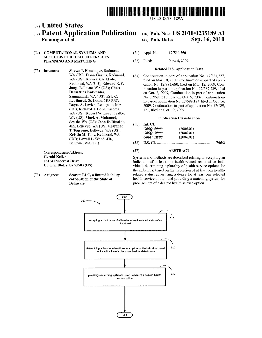 Computational systems and methods for health services planning and matching - diagram, schematic, and image 01