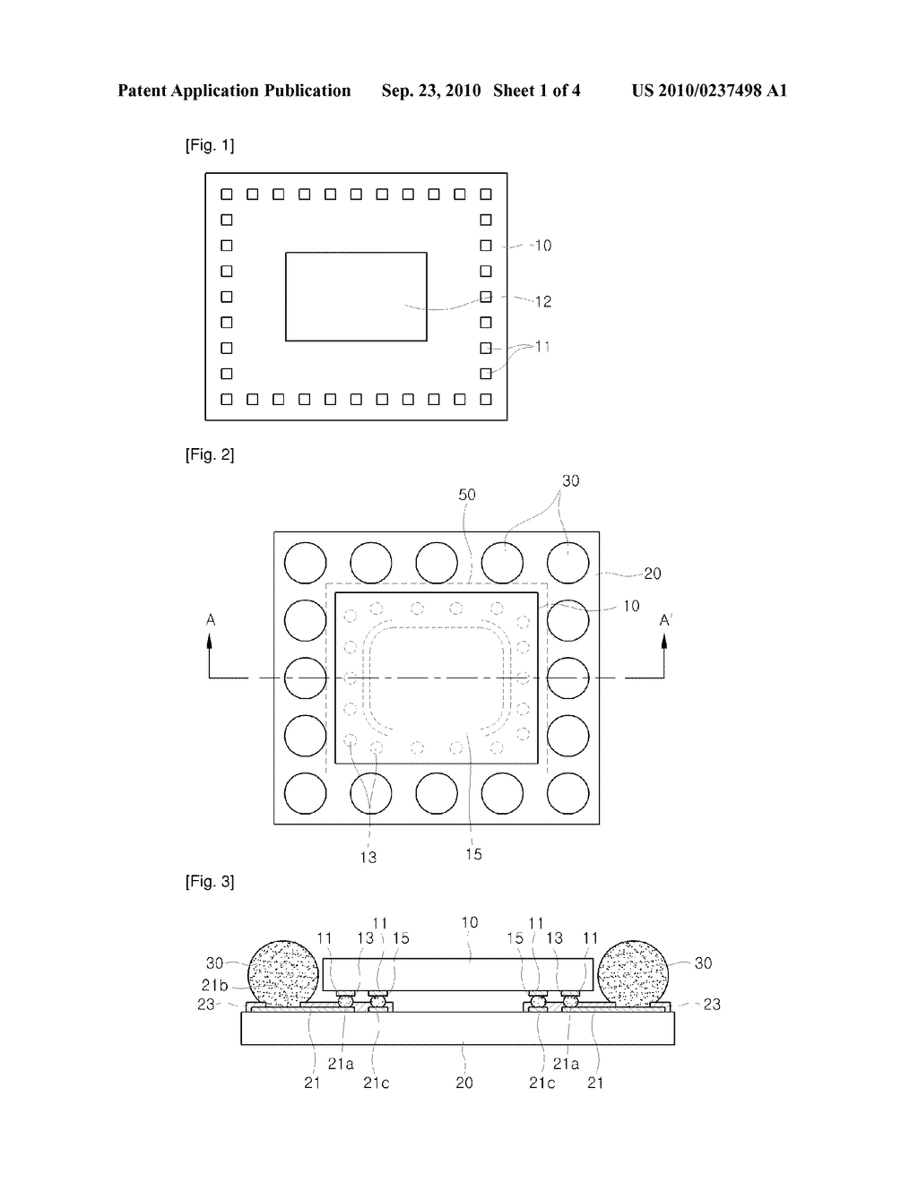 PACKAGE FOR SEMICONDUCTOR DEVICE AND PACKAGING METHOD THEREOF - diagram, schematic, and image 02