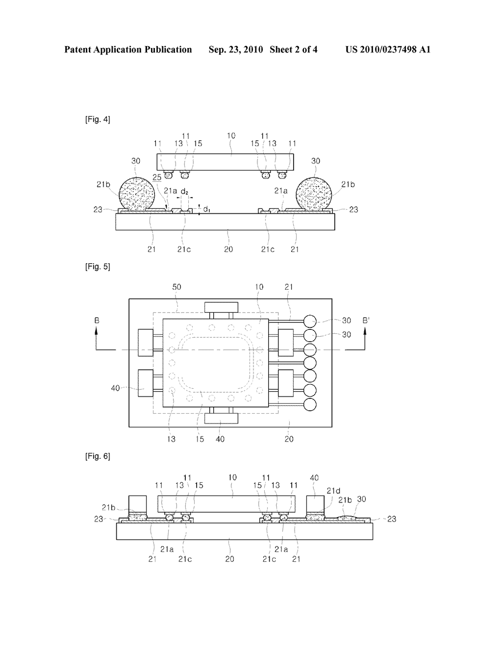 PACKAGE FOR SEMICONDUCTOR DEVICE AND PACKAGING METHOD THEREOF - diagram, schematic, and image 03