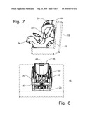 Reversible Child Car Seat with Separable Base Member diagram and image
