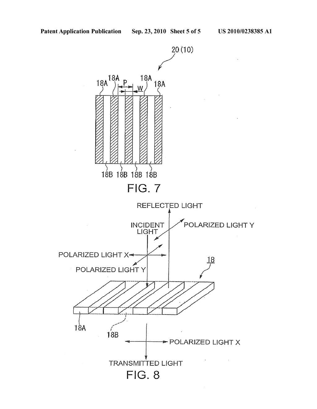 POLARIZING ELEMENT, POLARIZING ELEMENT MANUFACTURING METHOD, LIQUID CRYSTAL DEVICE, AND PROJECTION DISPLAY - diagram, schematic, and image 06