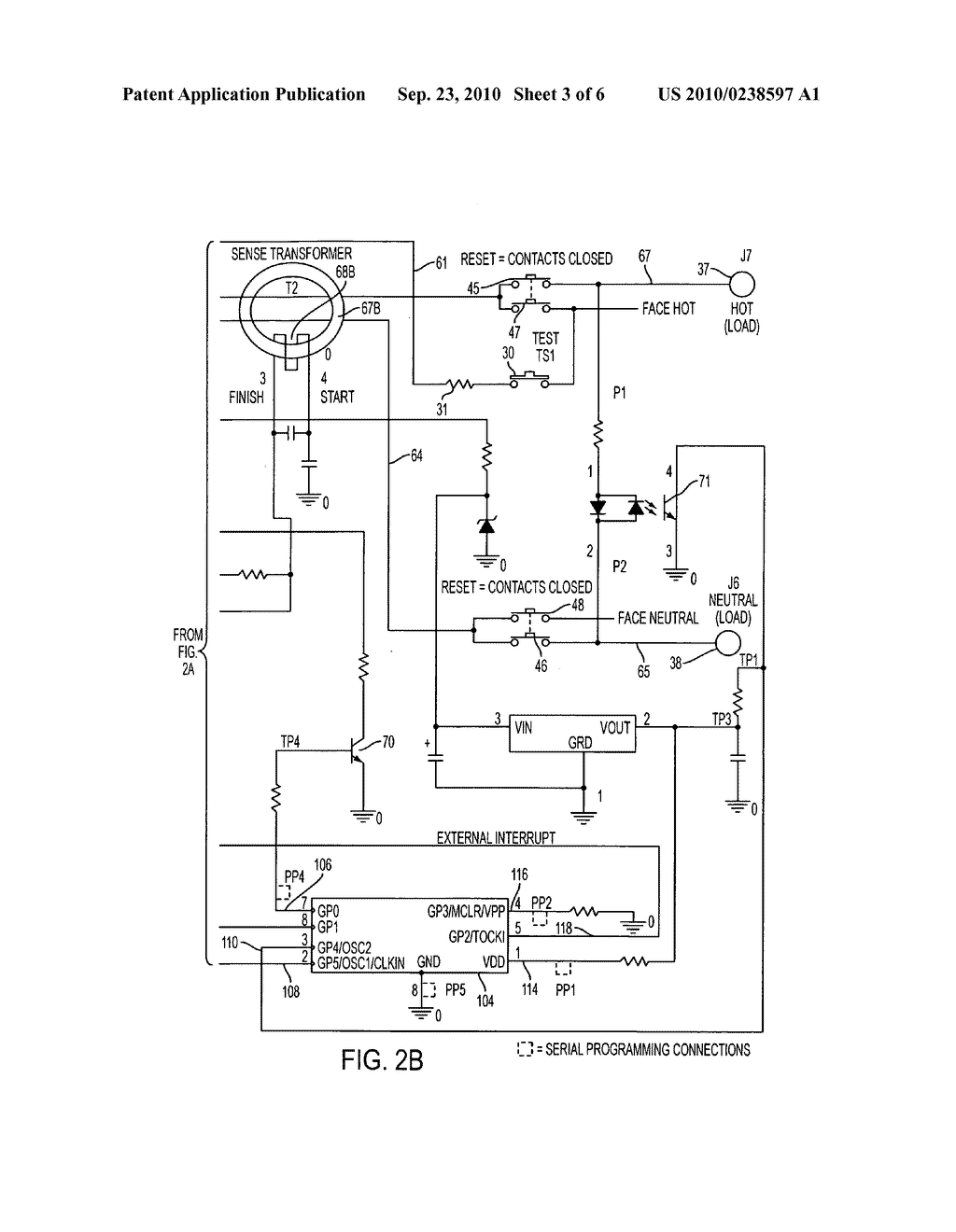 Self Testing Ground Fault Circuit Interrupter Gfci With End Of How To Wire A Life Eol Detection That Rejects False Information Diagram Schematic And Image 04