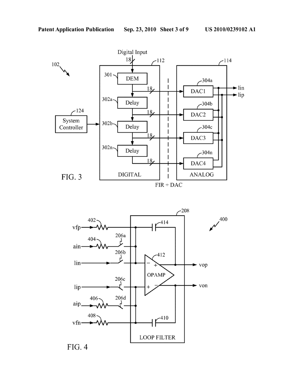 DIGITAL FILTERING IN A CLASS D AMPLIFIER SYSTEM TO REDUCE NOISE FOLD OVER - diagram, schematic, and image 04