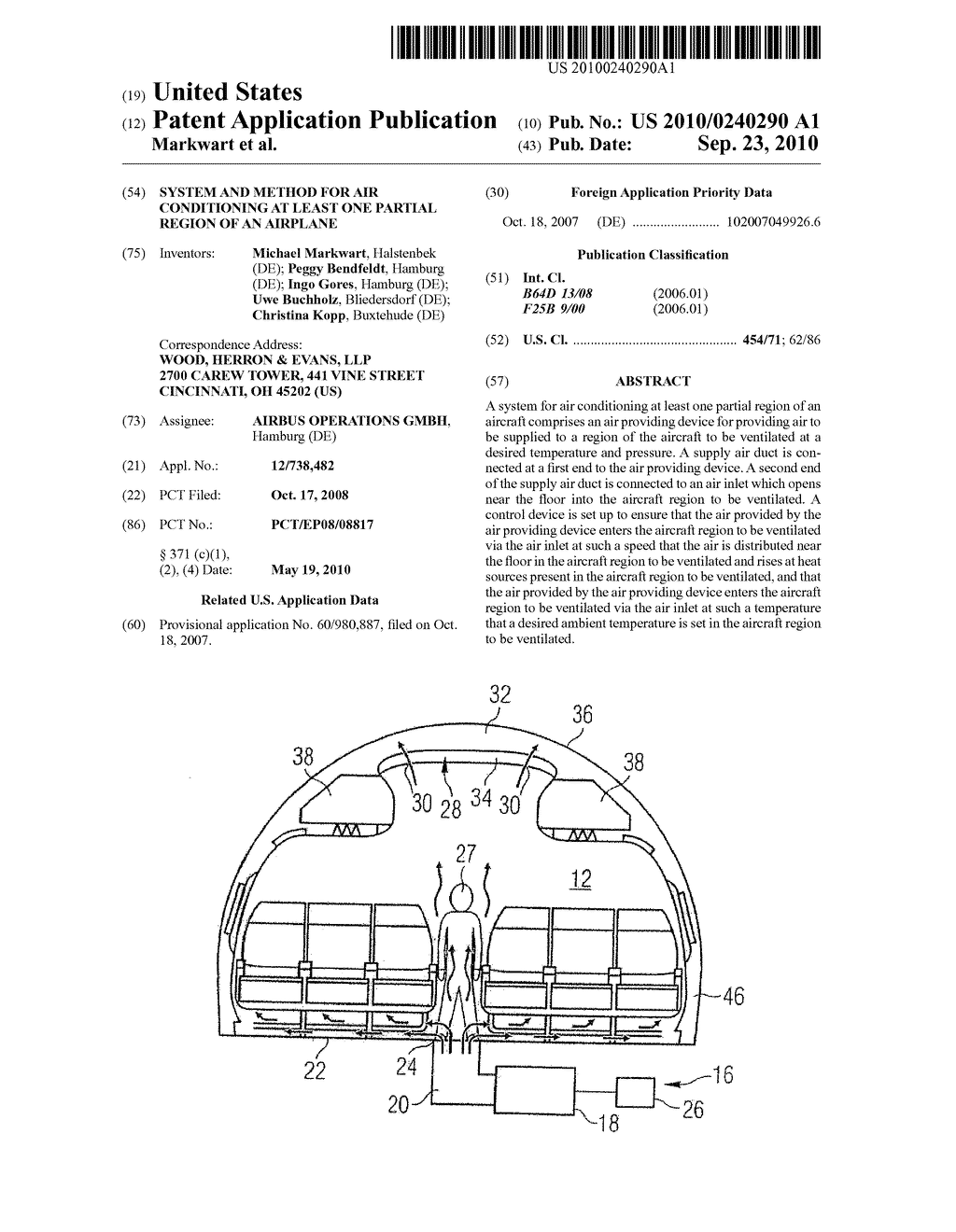 System And Method For Air Conditioning At Least One Partial Region Of An Airplane - diagram, schematic, and image 01
