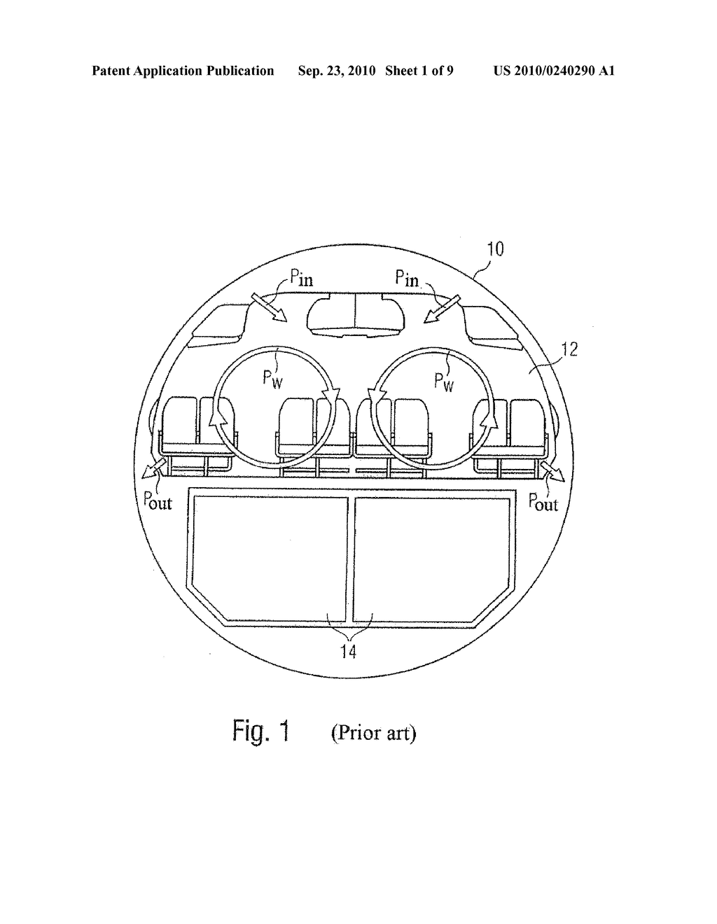 System And Method For Air Conditioning At Least One Partial Region Of An Airplane - diagram, schematic, and image 02