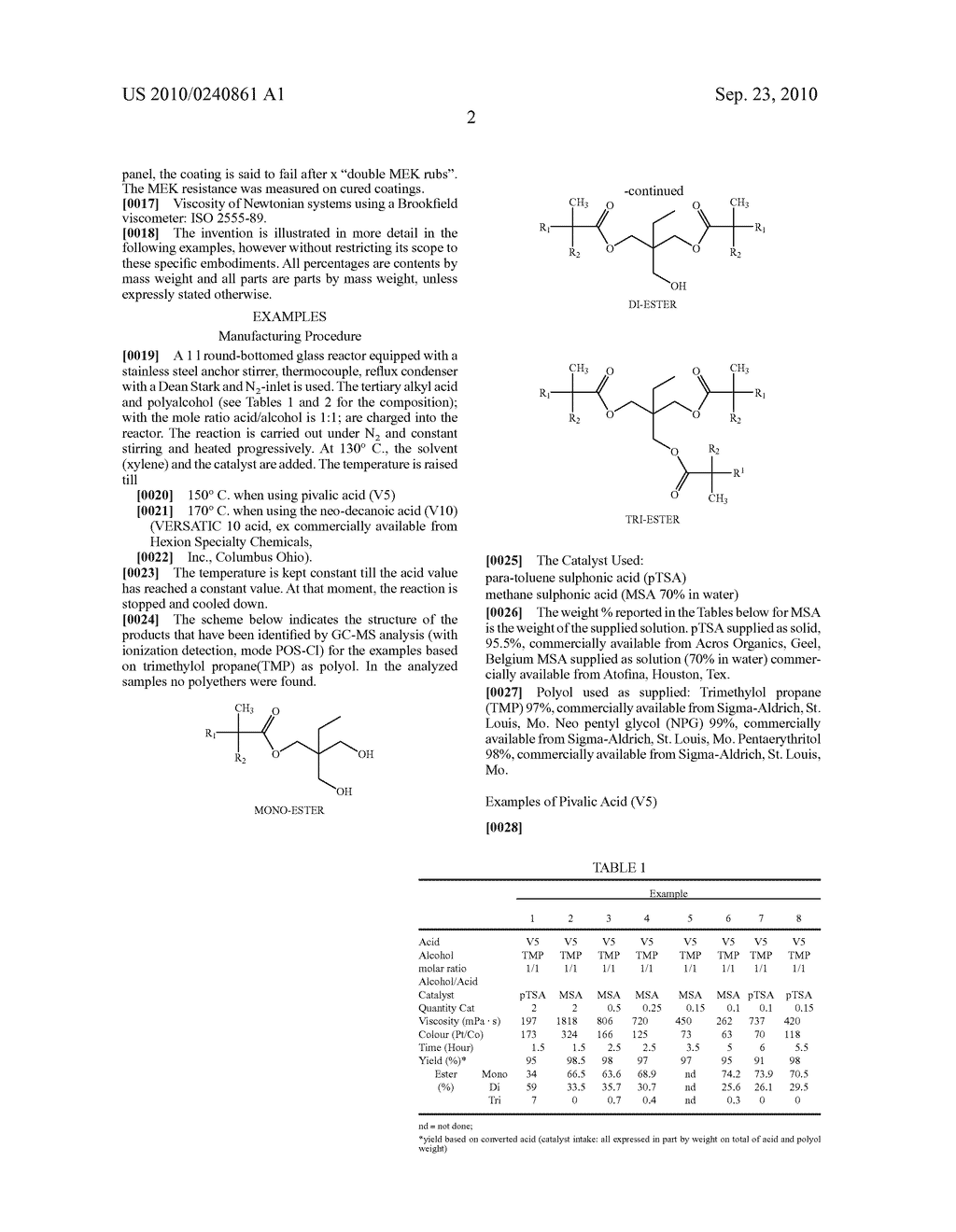 ESTERIFICATION PROCESS OF POLYOLS WITH TERTIARY ALKYL SUBSTITUTED ACIDS - diagram, schematic, and image 03