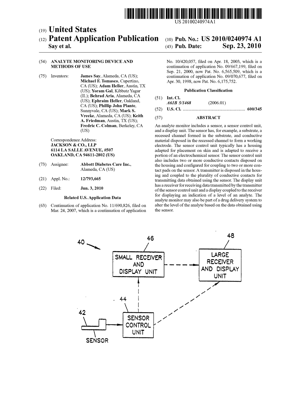 Analyte Monitoring Device and Methods of Use - diagram, schematic, and image 01