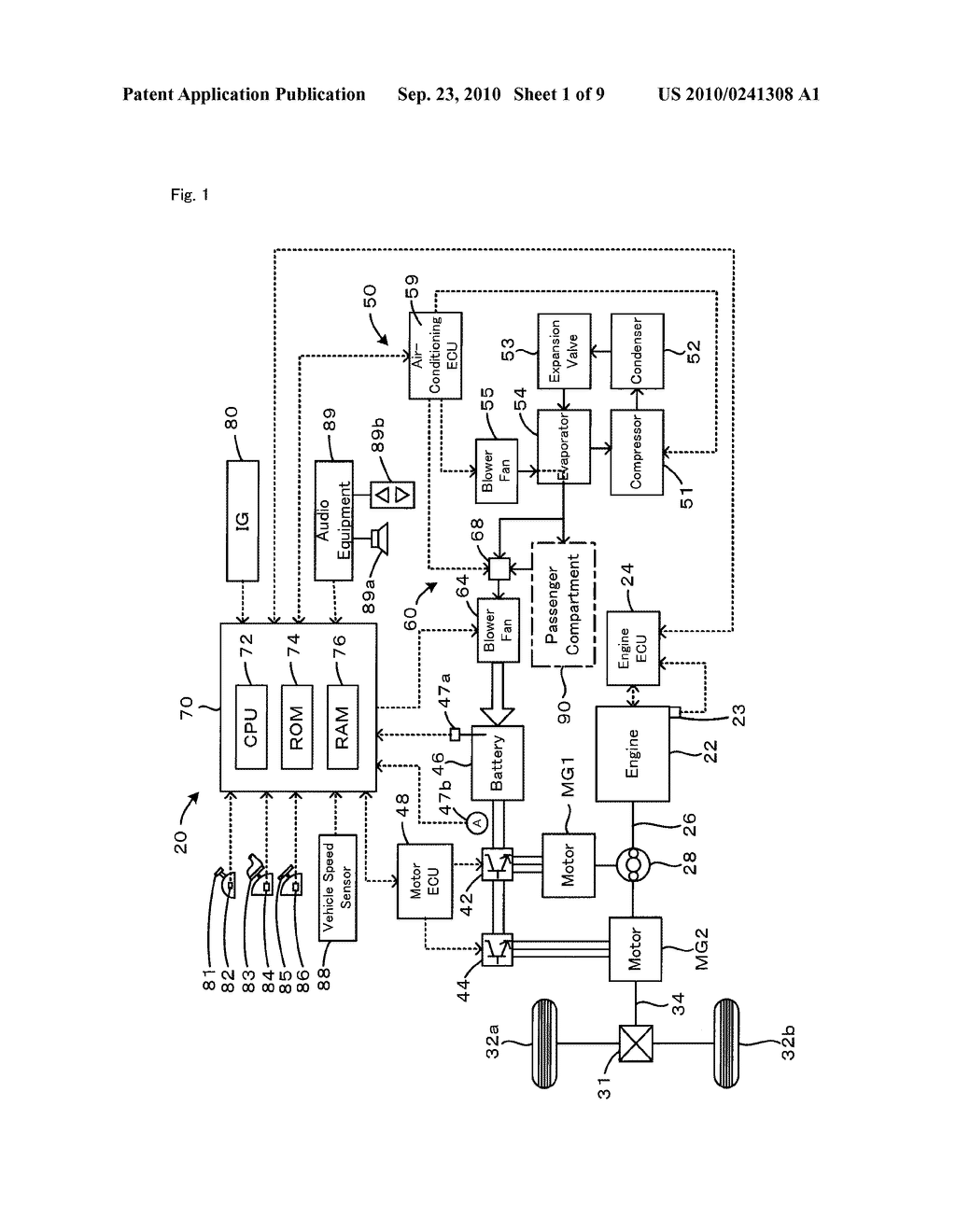 COOLING SYSTEM, MOTOR VEHICLE EQUIPPED WITH COOLING SYSTEM, AND CONTROL METHOD OF COOLING SYSTEM - diagram, schematic, and image 02