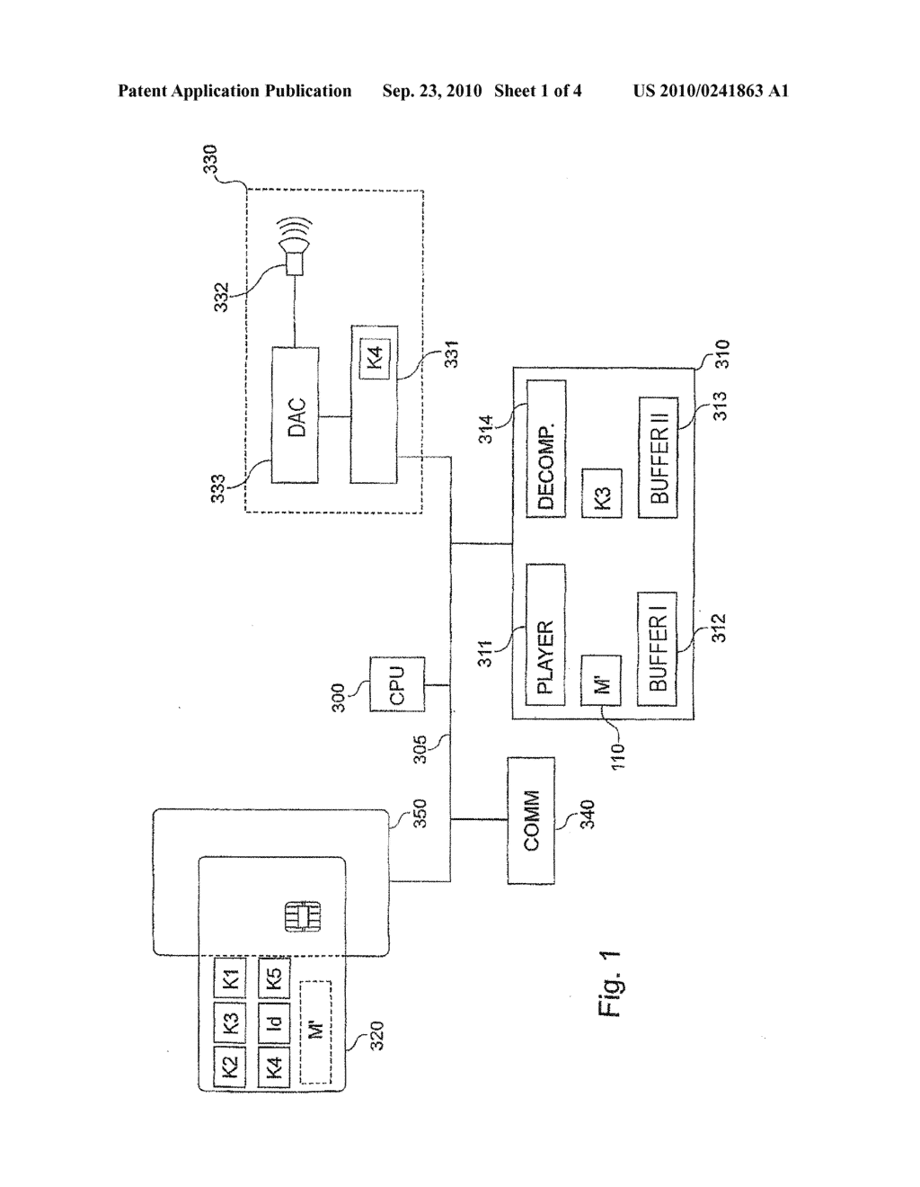 DEVICE FOR REPRODUCING DIGITAL CONTENT, SECURE ELECTRONIC ENTITY, SYSTEM COMPRISING SAID ELEMENTS AND METHOD FOR REPRODUCING DIGITAL CONTENT - diagram, schematic, and image 02