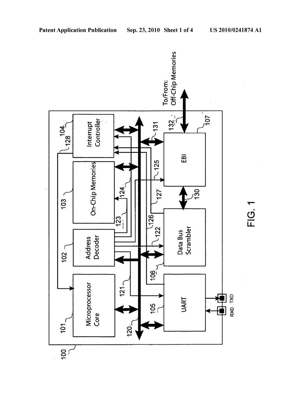 Method and Apparatus to Scramble Data Stored in Memories Accessed by Microprocessors - diagram, schematic, and image 02