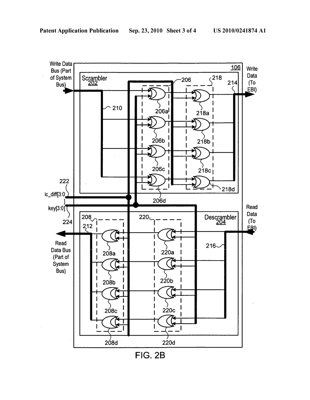 Method and Apparatus to Scramble Data Stored in Memories Accessed by Microprocessors - diagram, schematic, and image 04