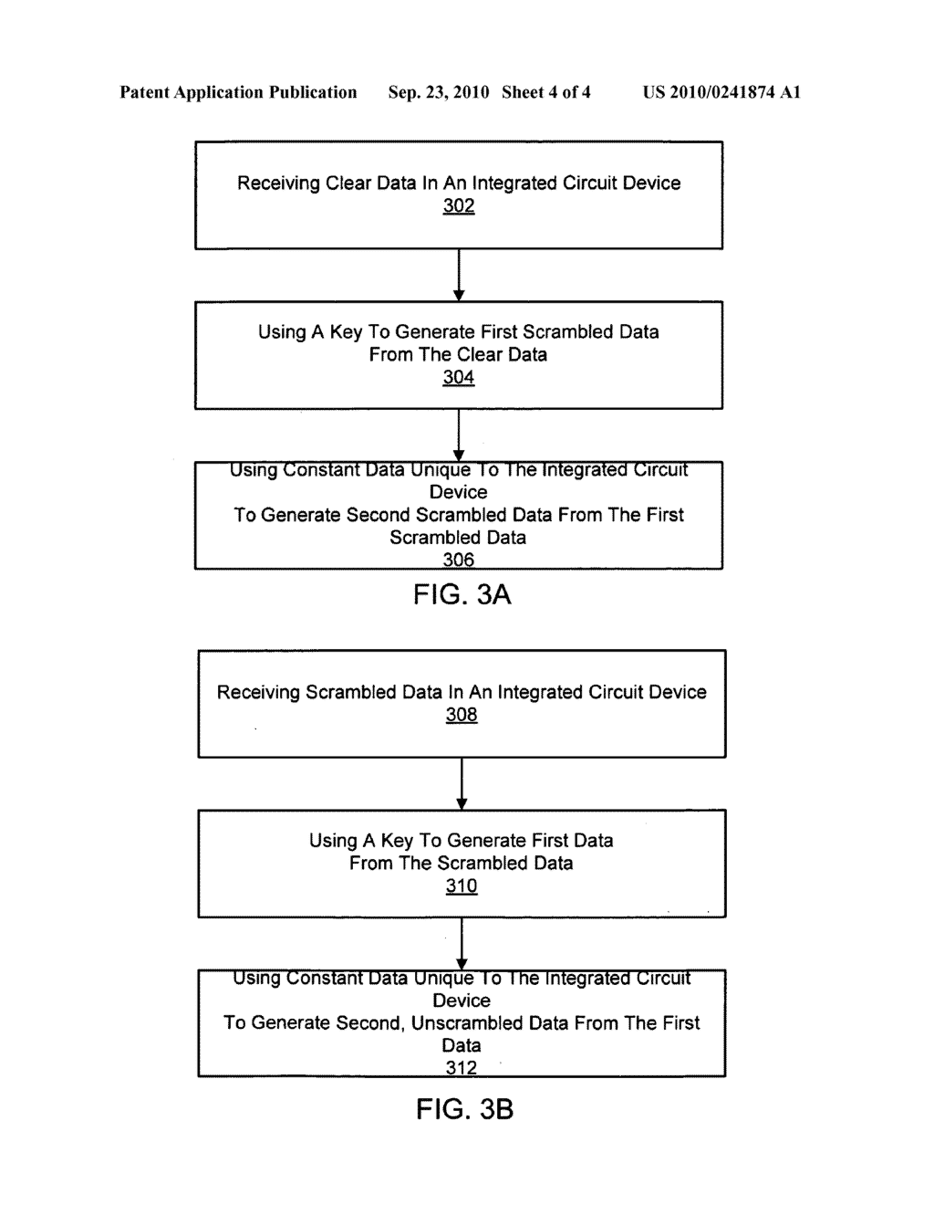 Method and Apparatus to Scramble Data Stored in Memories Accessed by Microprocessors - diagram, schematic, and image 05