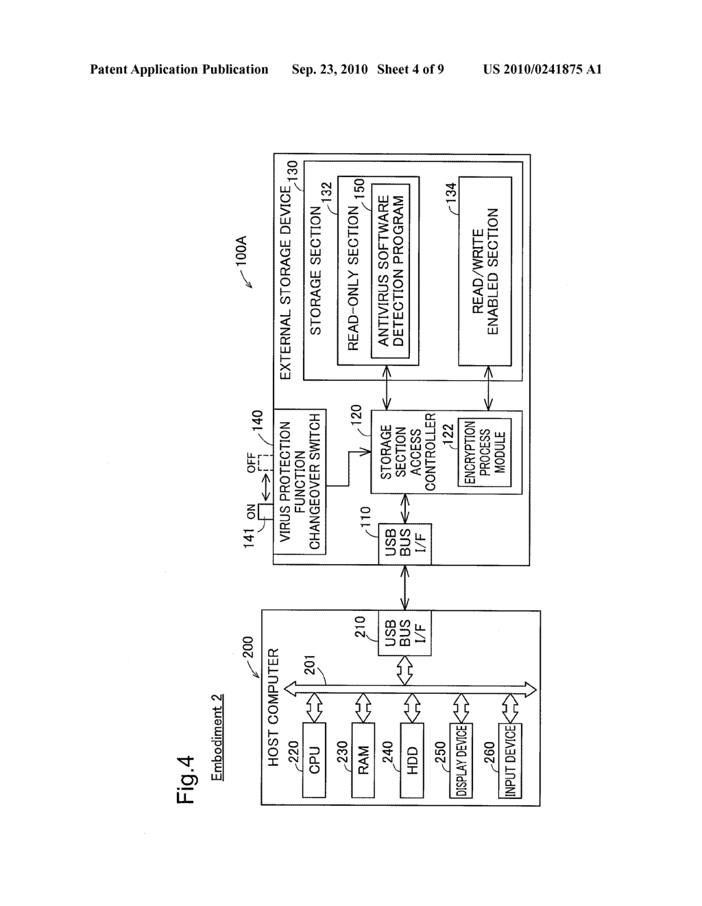 EXTERNAL STORAGE DEVICE AND METHOD OF CONTROLLING THE SAME - diagram, schematic, and image 05