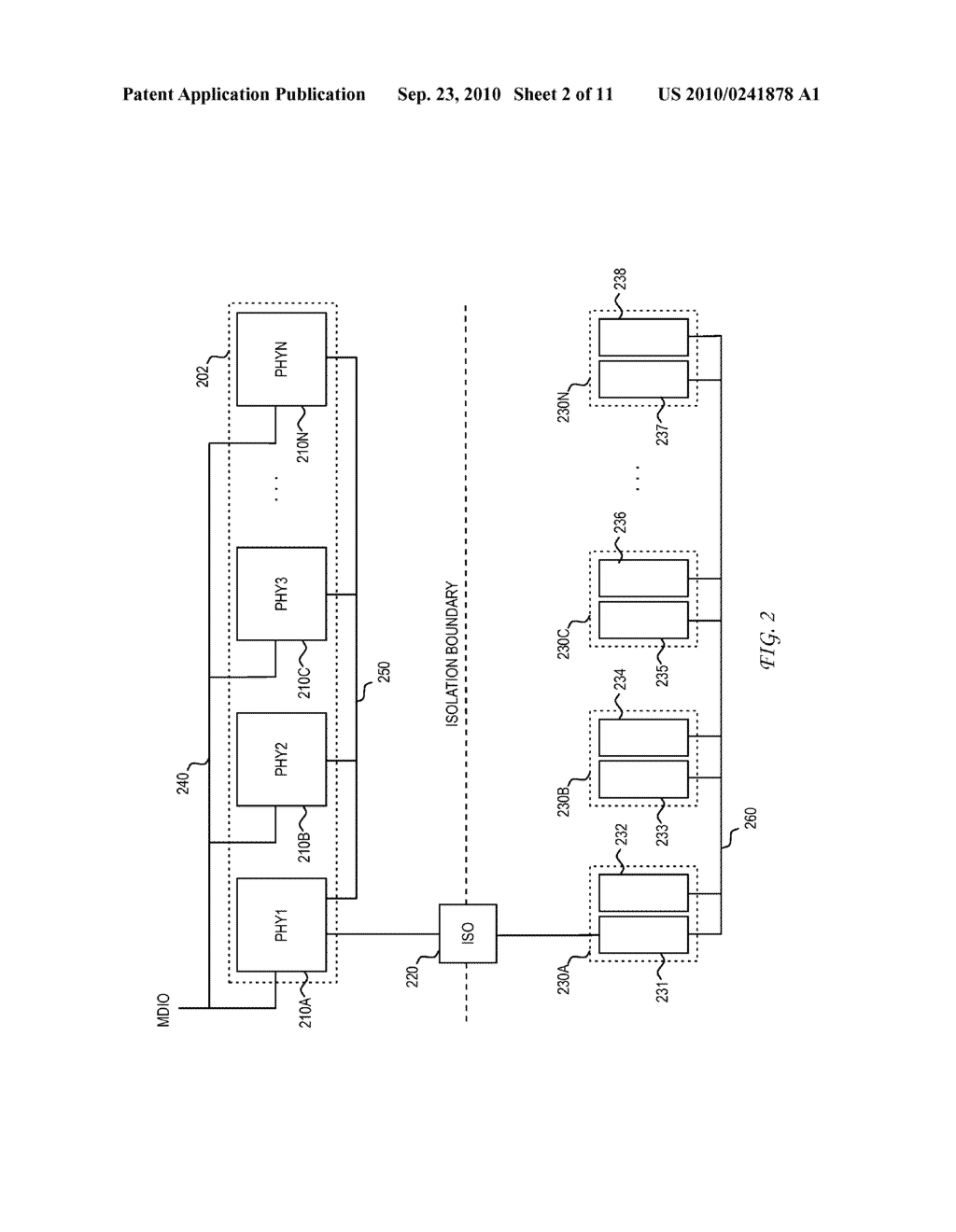 System and Method for Mirroring Power Over Ethernet Registers in a Physical Layer Device Over a Single Isolation Boundary - diagram, schematic, and image 03