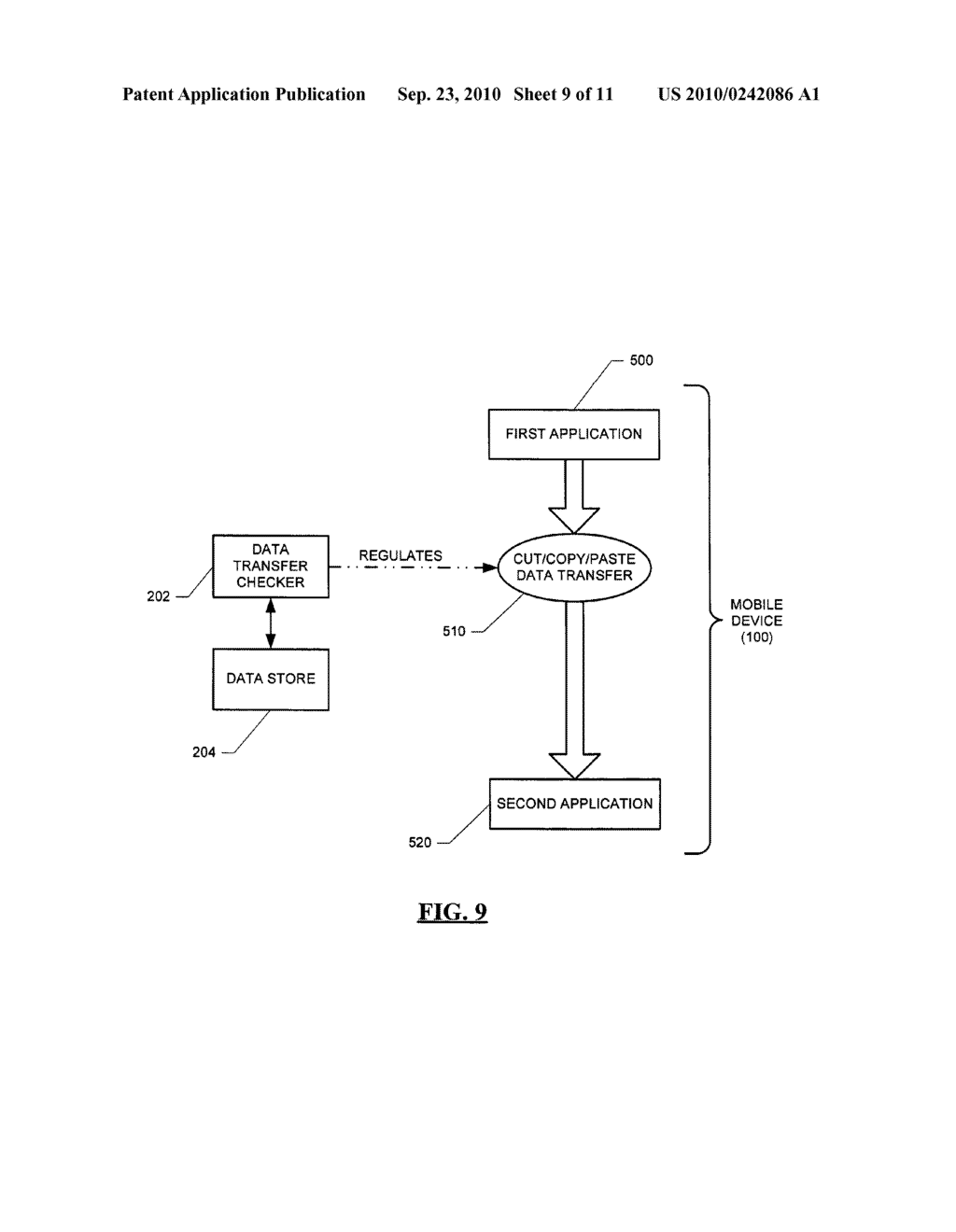 SYSTEM AND METHOD FOR HANDLING DATA TRANSFERS - diagram, schematic, and image 10