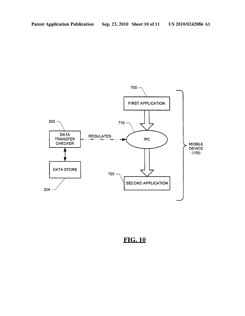 SYSTEM AND METHOD FOR HANDLING DATA TRANSFERS - diagram, schematic, and image 11