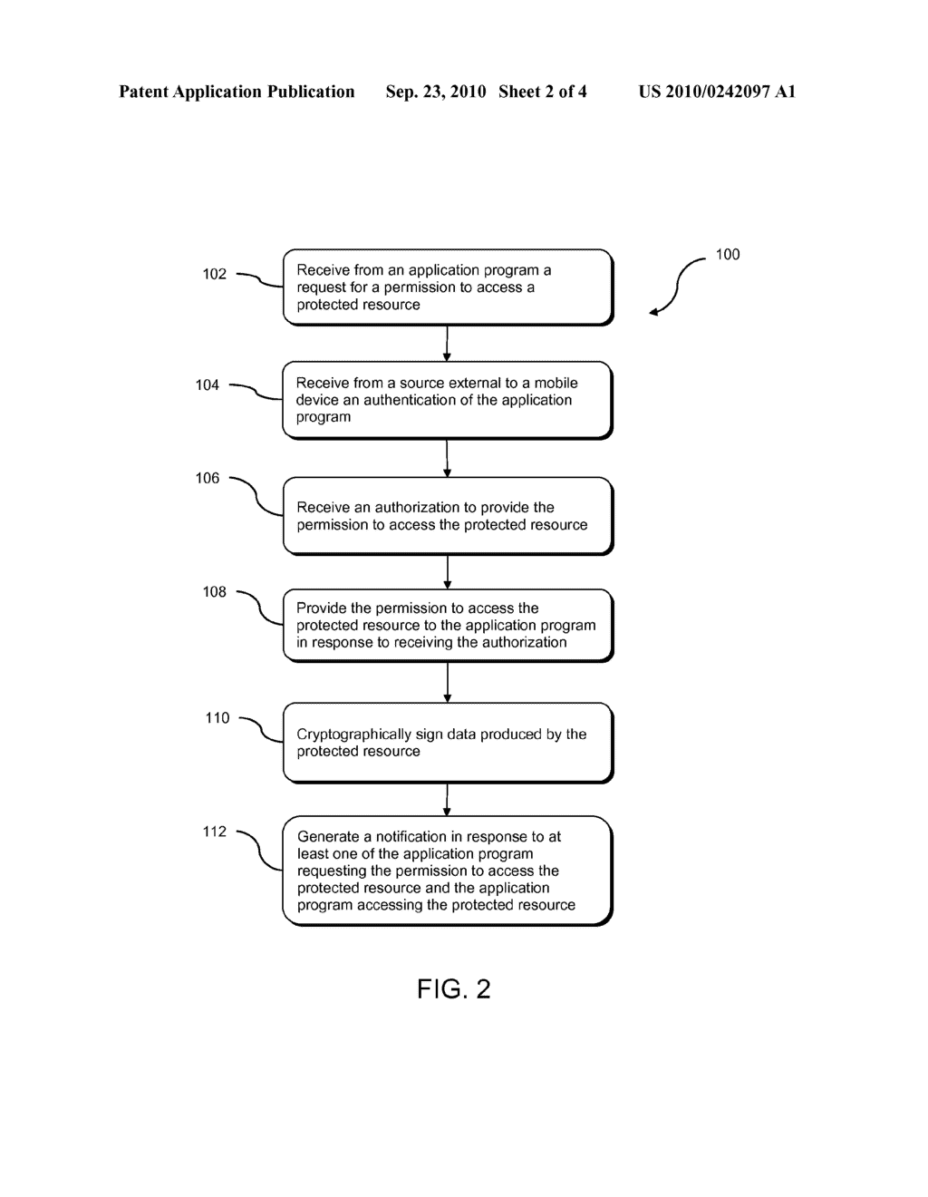 SYSTEM AND METHOD FOR MANAGING APPLICATION PROGRAM ACCESS TO A PROTECTED RESOURCE RESIDING ON A MOBILE DEVICE - diagram, schematic, and image 03