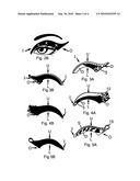 Decorative eyelid covering and process diagram and image