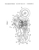 INLET PASSAGE STRUCTURE OF V-TYPE INTERNAL COMBUSTION ENGINE diagram and image