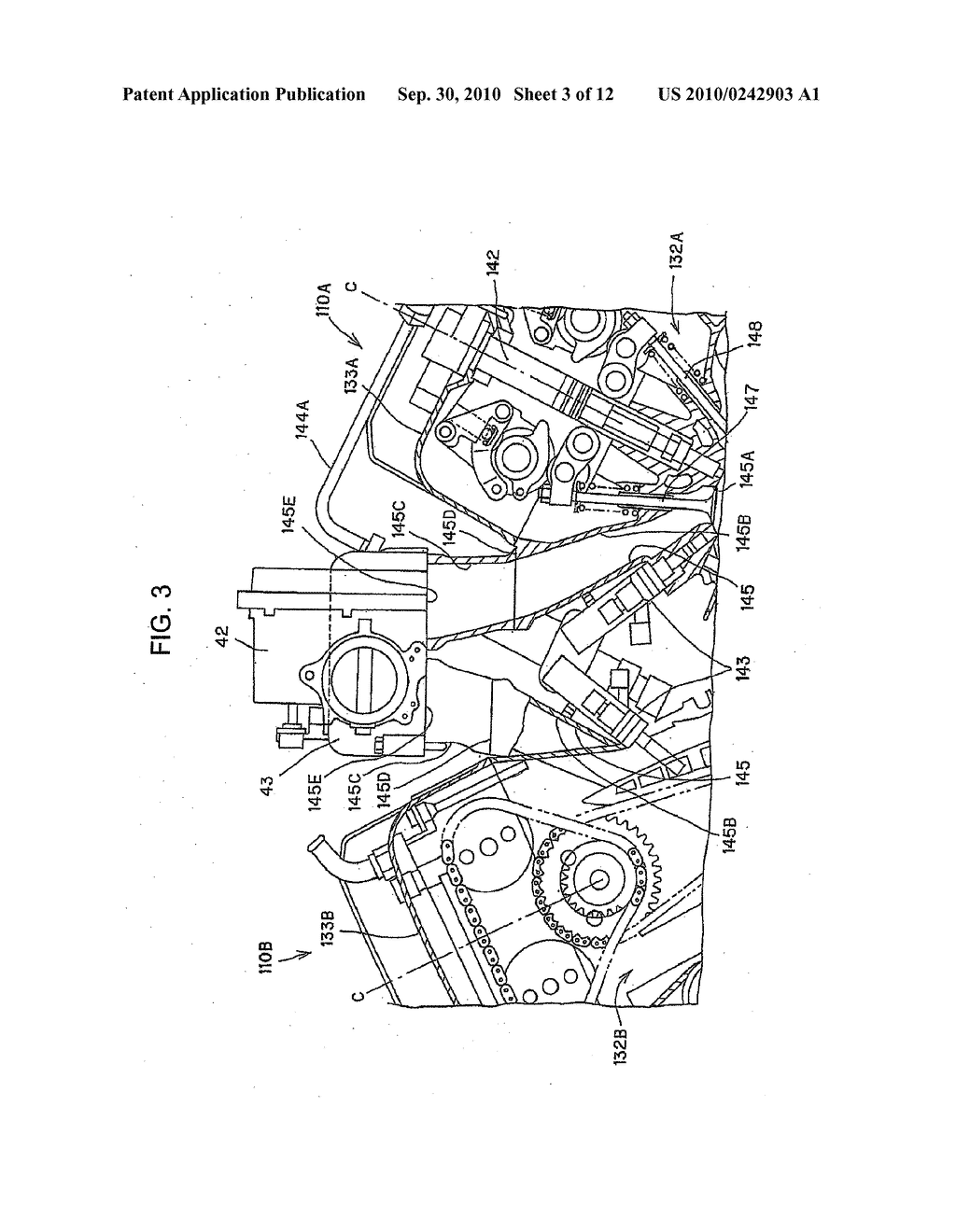 INLET PASSAGE STRUCTURE OF V-TYPE INTERNAL COMBUSTION ENGINE - diagram,  schematic, and image 04