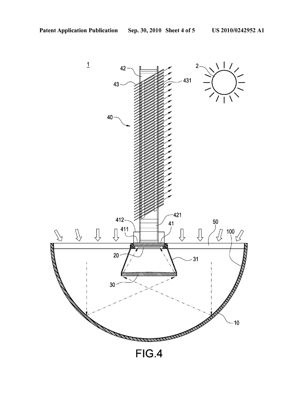 SOLAR POWER SYSTEM WITH TOWER TYPE HEAT DISSIPATING STRUCTURE - diagram, schematic, and image 05