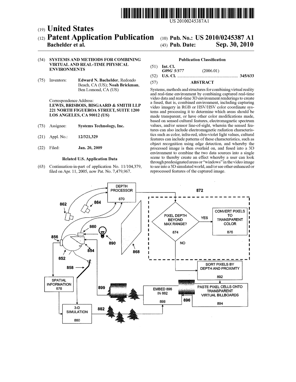 SYSTEMS AND METHODS FOR COMBINING VIRTUAL AND REAL-TIME PHYSICAL ENVIRONMENTS - diagram, schematic, and image 01