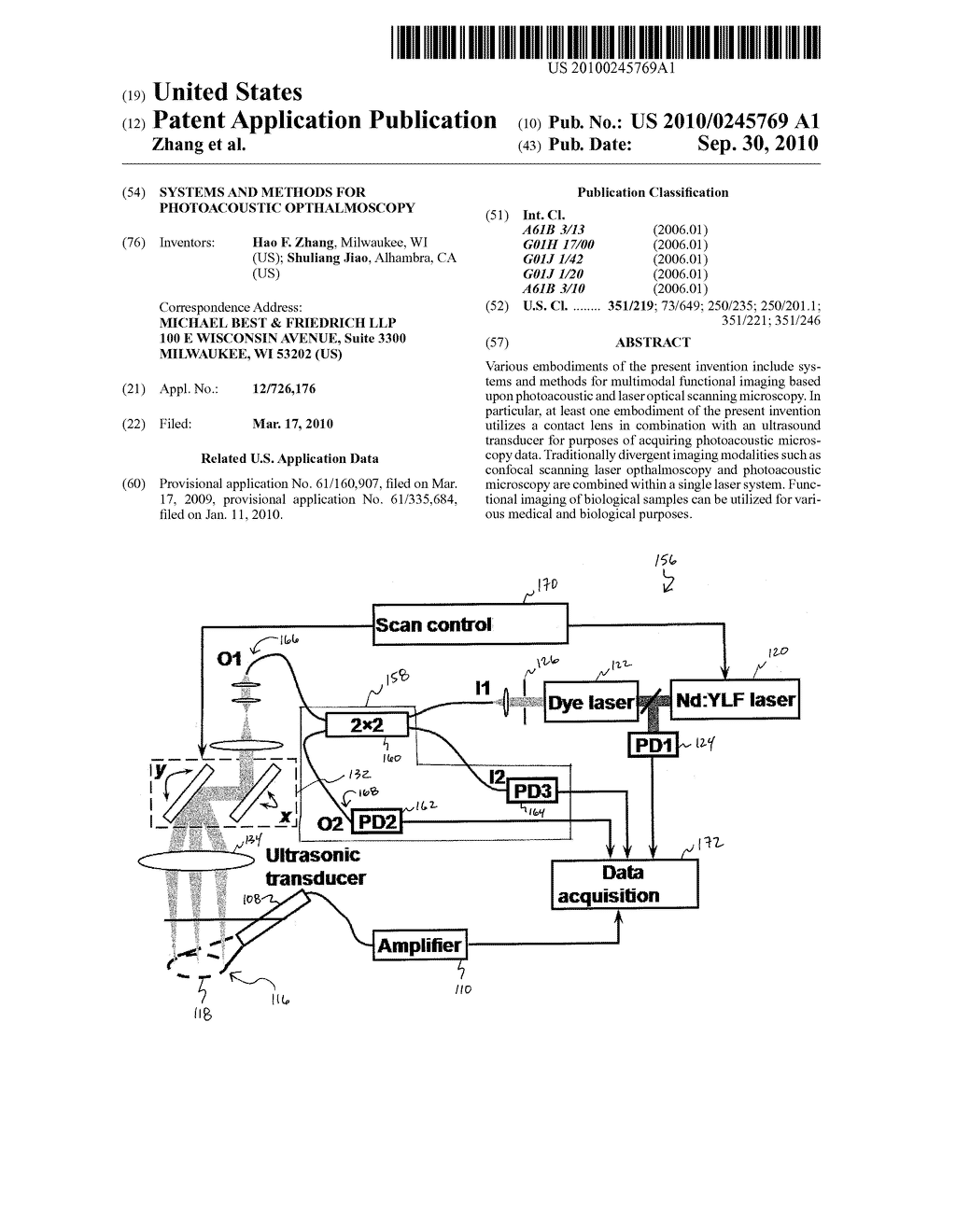 SYSTEMS AND METHODS FOR PHOTOACOUSTIC OPTHALMOSCOPY - diagram, schematic, and image 01