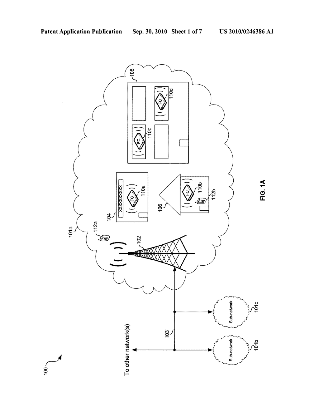Method and System for Communicating Data Via a Mesh Network of Interconnected Femtocells - diagram, schematic, and image 02