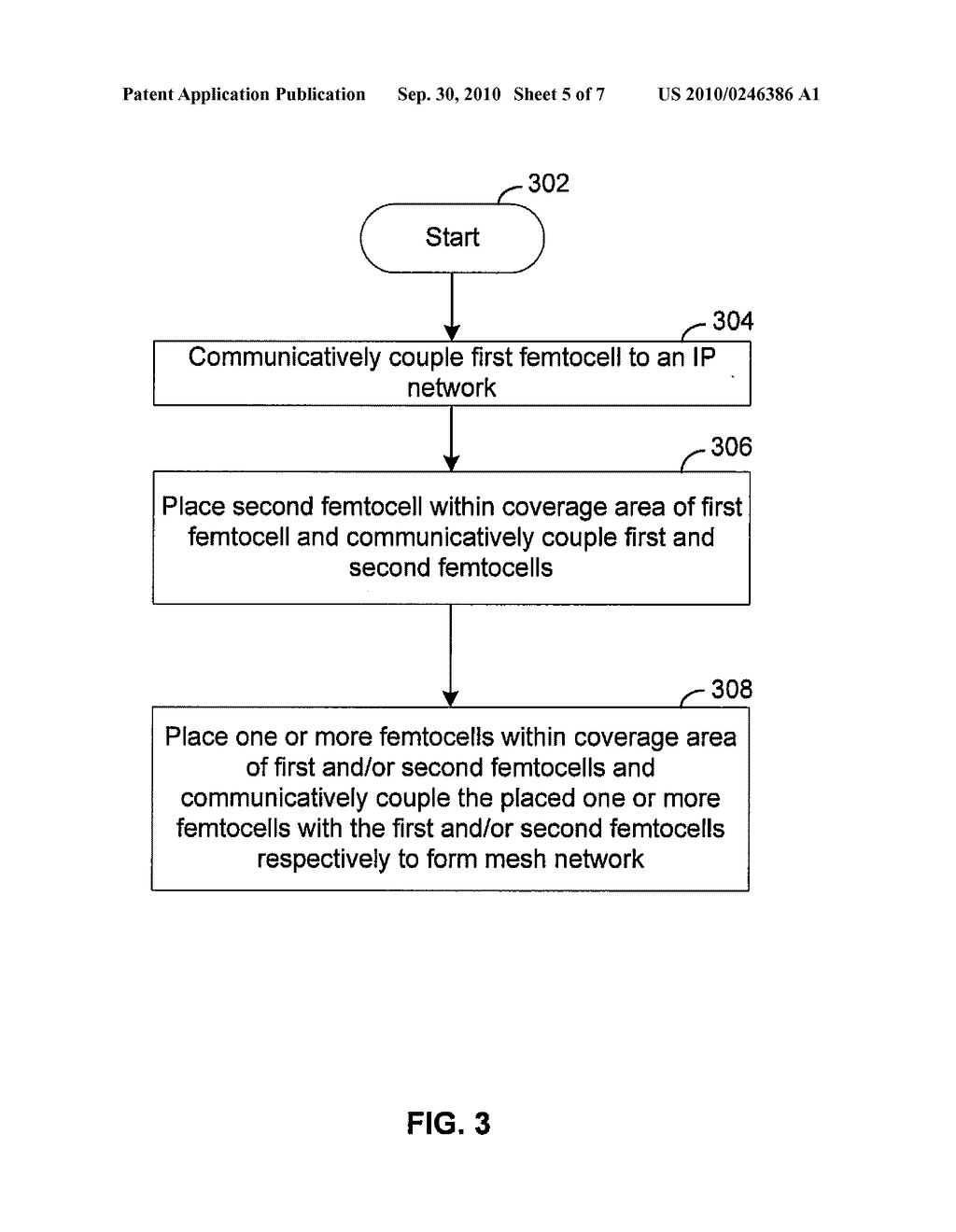 Method and System for Communicating Data Via a Mesh Network of Interconnected Femtocells - diagram, schematic, and image 06