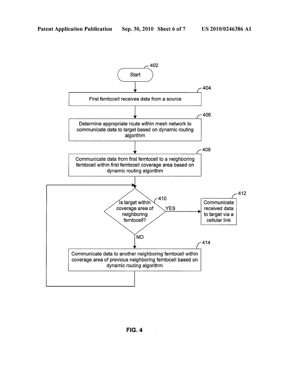 Method and System for Communicating Data Via a Mesh Network of Interconnected Femtocells - diagram, schematic, and image 07