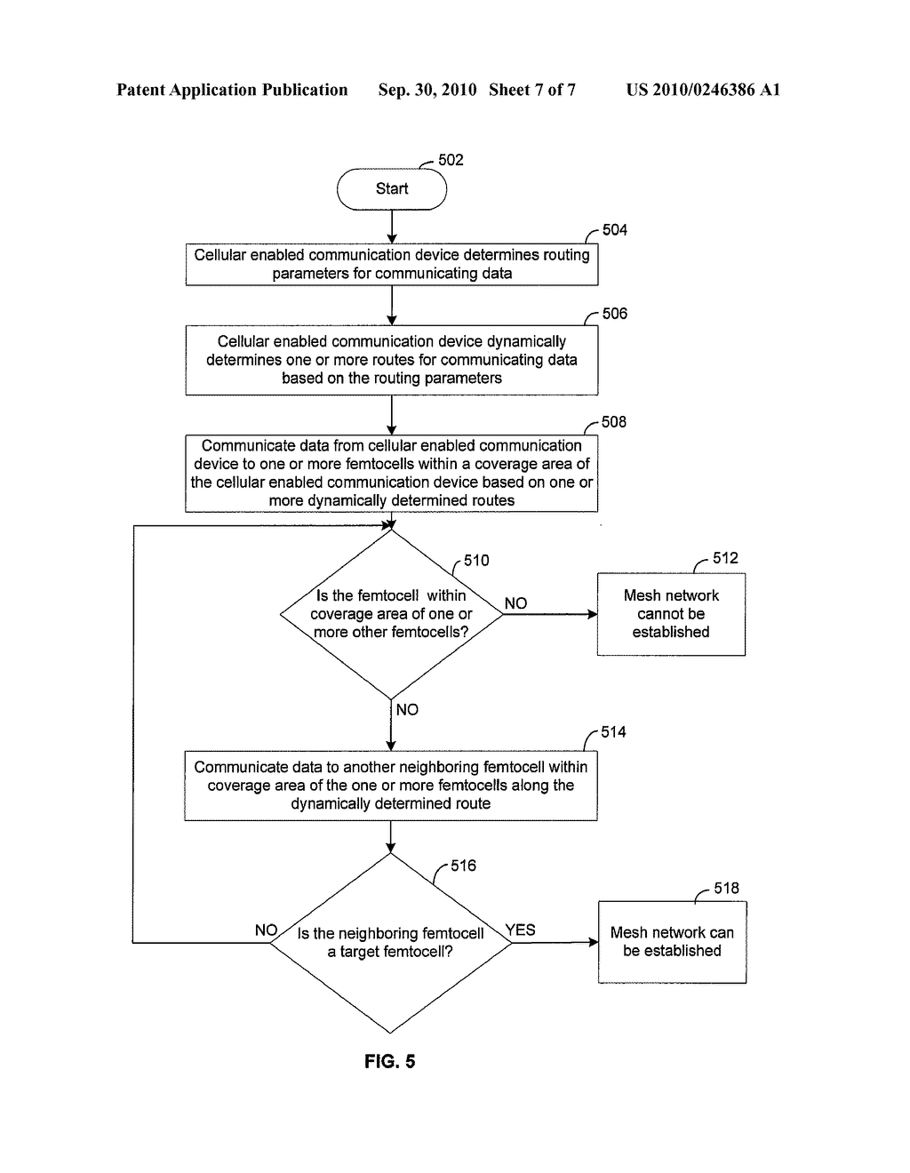 Method and System for Communicating Data Via a Mesh Network of Interconnected Femtocells - diagram, schematic, and image 08