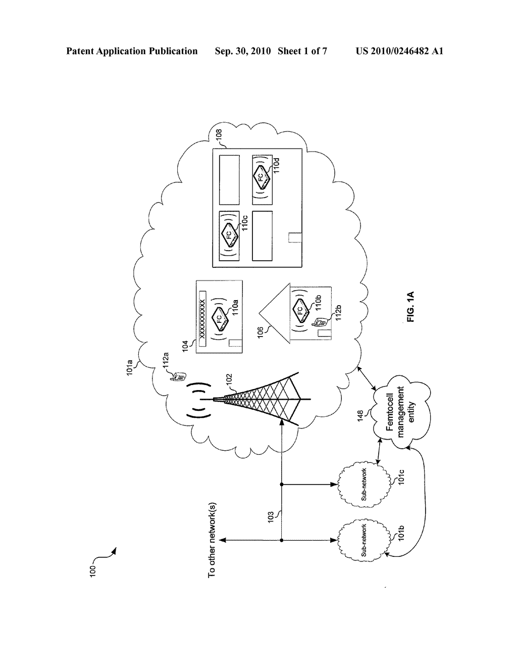 Method and System for Dynamic Adjustment of Power and Frequencies in a Femtocell Network - diagram, schematic, and image 02