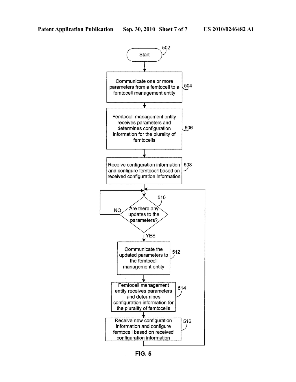 Method and System for Dynamic Adjustment of Power and Frequencies in a Femtocell Network - diagram, schematic, and image 08