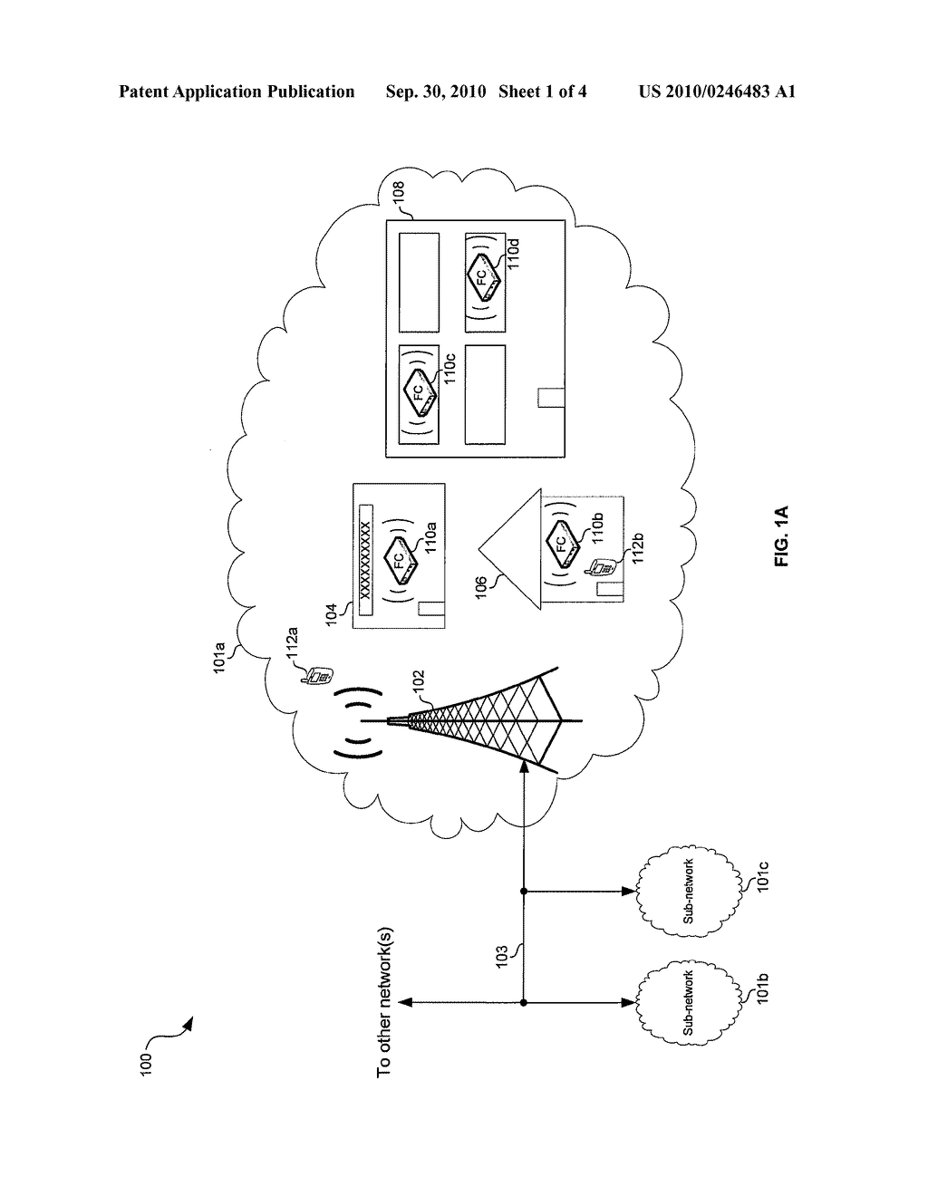 Method and System for Communication Between a Plurality of Femtocells to Mitigate Interference Between the Femtocells - diagram, schematic, and image 02