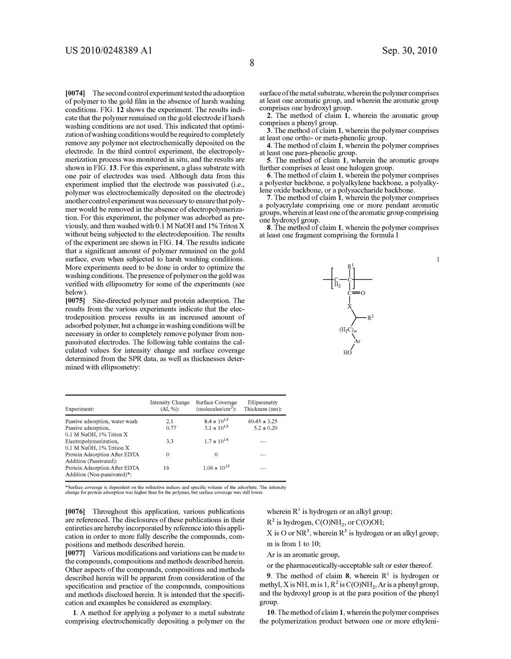 ELECTROCHEMICAL DEPOSITION OF POLYMERS ON METAL SUBSTRATES - diagram, schematic, and image 17