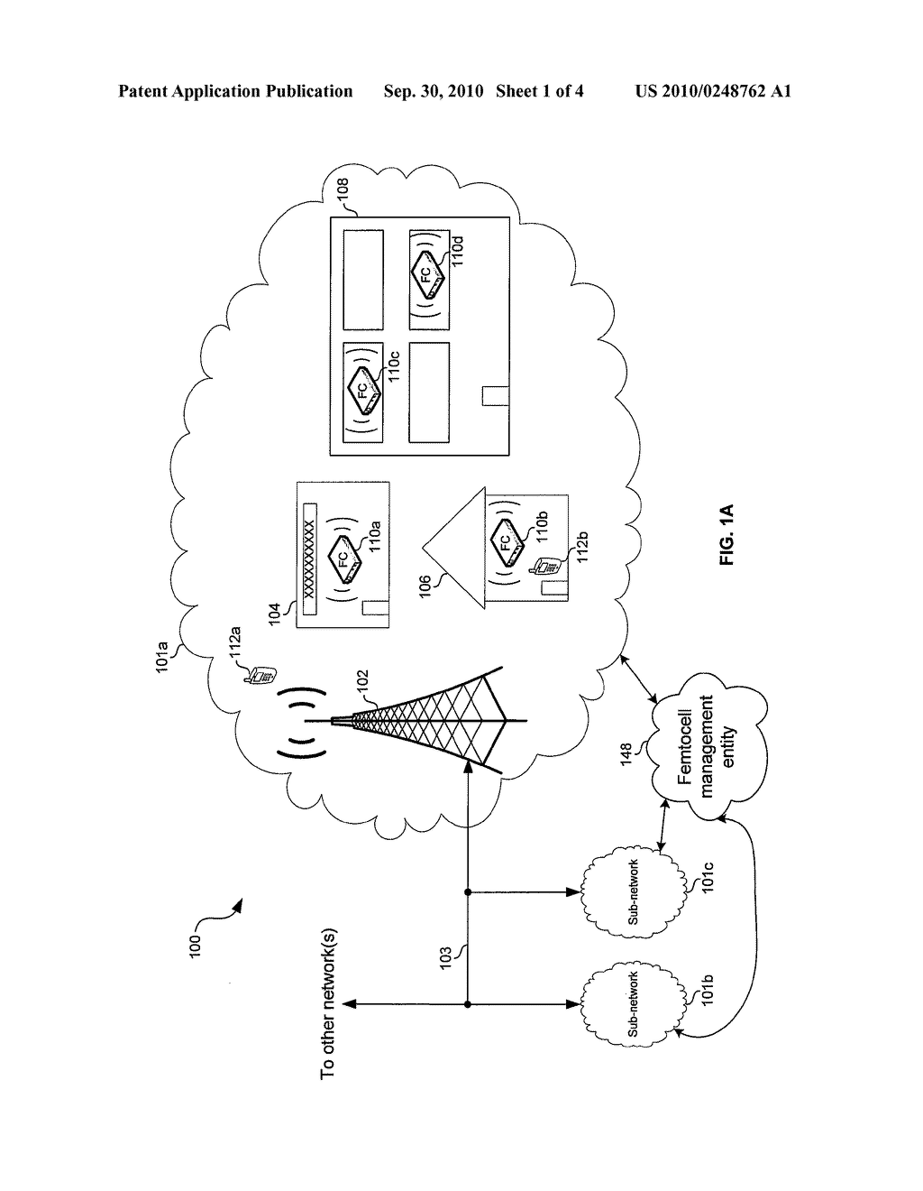 Method and System for Mitigating Interference Between a Plurality of Femtocells Utilizing Transmission Deferral - diagram, schematic, and image 02