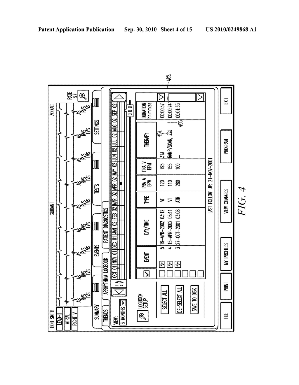 IMPLANTABLE MEDICAL DEVICE PROGRAMMING APPARATUS HAVING A GRAPHICAL USER INTERFACE - diagram, schematic, and image 05