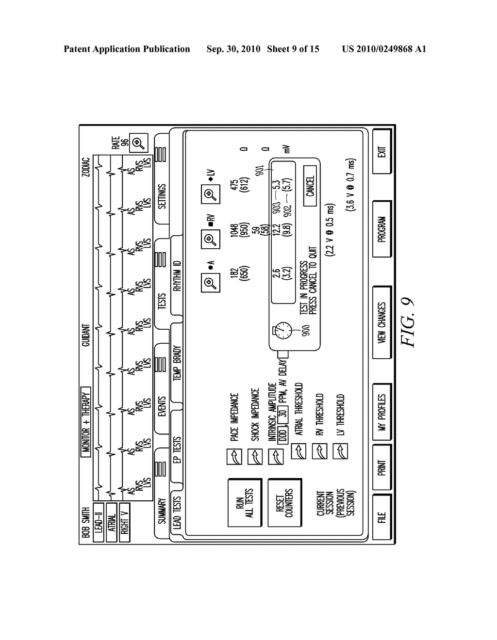 IMPLANTABLE MEDICAL DEVICE PROGRAMMING APPARATUS HAVING A GRAPHICAL USER INTERFACE - diagram, schematic, and image 10
