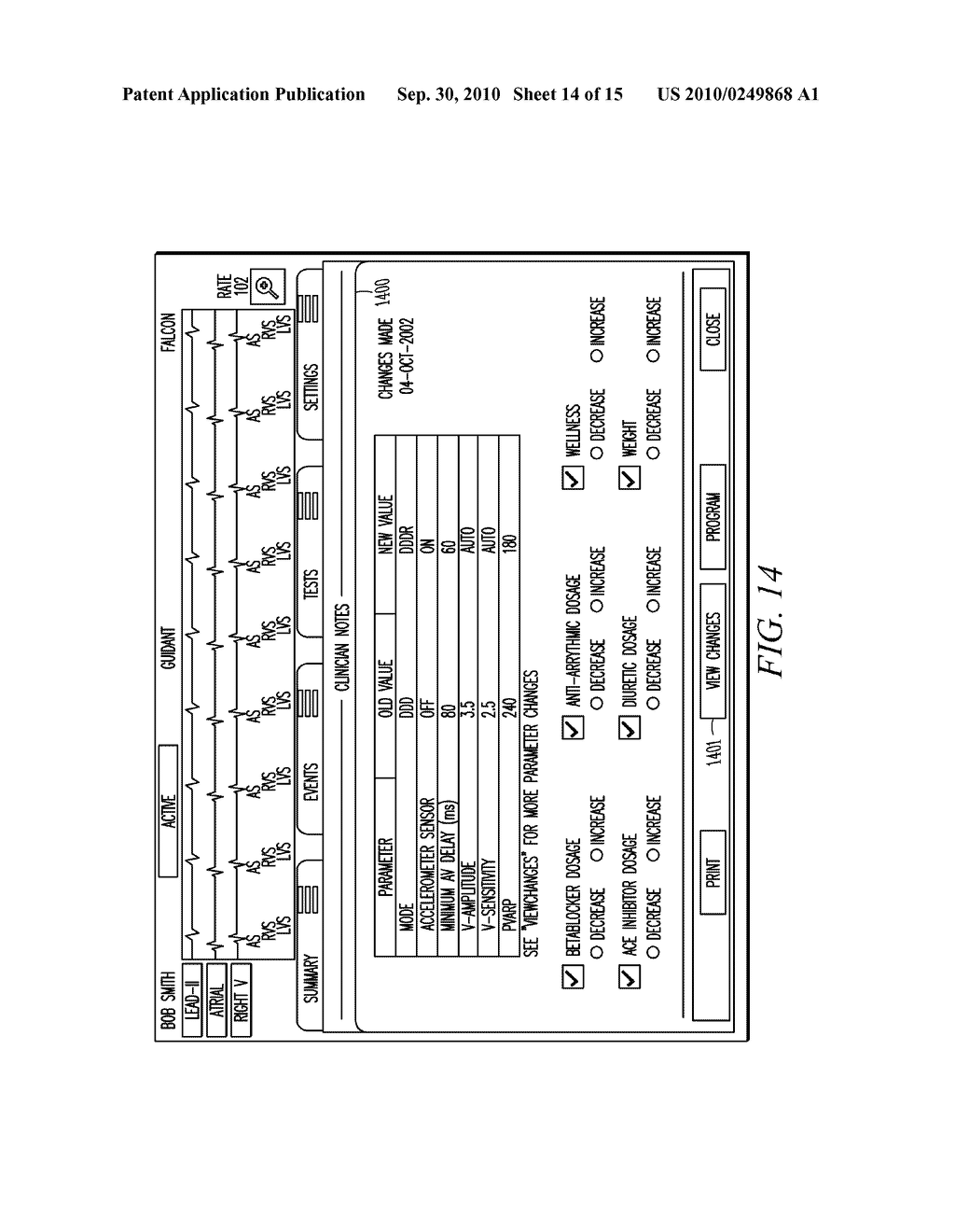 IMPLANTABLE MEDICAL DEVICE PROGRAMMING APPARATUS HAVING A GRAPHICAL USER INTERFACE - diagram, schematic, and image 15